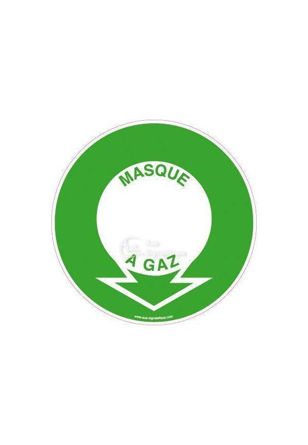 Panneau Localisation Masque à Gaz