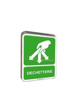 Déchetterie - Panneau Type Routier Avec Rebord