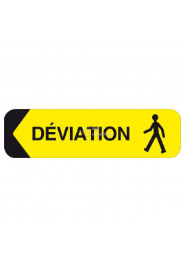 Panonceau Déviation - Droite