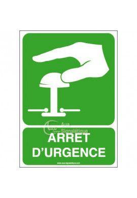 Panneau Arrêt D'Urgence Vert -Verti