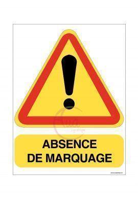 PANNEAU ABSENCE DE MARQUAGE EN AKILUX 5mm -Format 600 x 800 mm