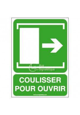 Panneau Coulisser pour Ouvrir Dr - Verticale