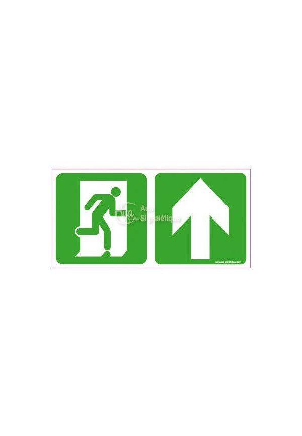 Panneau Direction de sortie, au dessus vers la droite - C