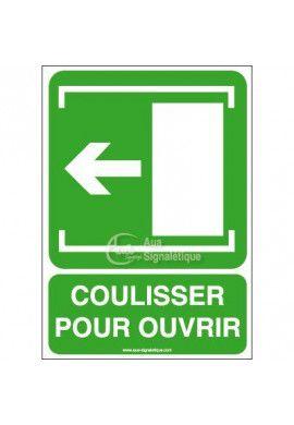 Panneau Coulisser pour Ouvrir Gau - Verticale