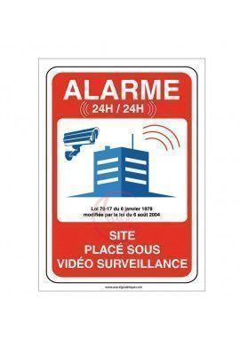 Panneau site sous alarme vidéo surveillance 24H /24