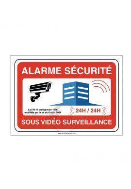 Panneau Bâtiment Protégé par Alarme Electronique