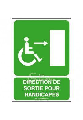 Panneau Direction Sortie Handi Dr - V