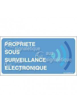 Panneau Propriété sous Surveillance Electronique
