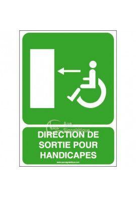 Panneau Direction Sortie Handi Gau - V