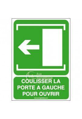Panneau Coulisser la porte vers la gauche-AI