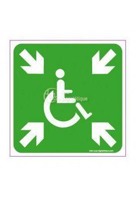 Panneau Point de Rassemblement Handicapé
