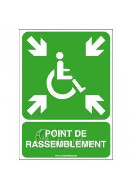 Panneau Point de Rassemblement Handicapés - AI