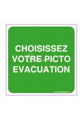 Panneau Choisissez Votre Picto Evacuation