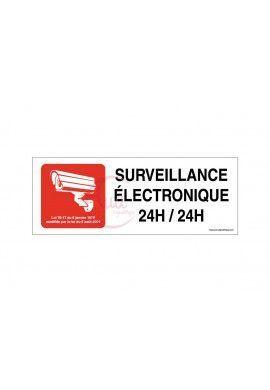 Panneau Surveillance électronique 24h/24h -Rouge