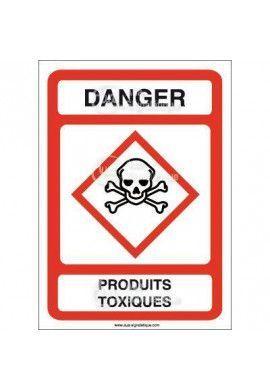 Panneau Danger Produits Toxiques - AI