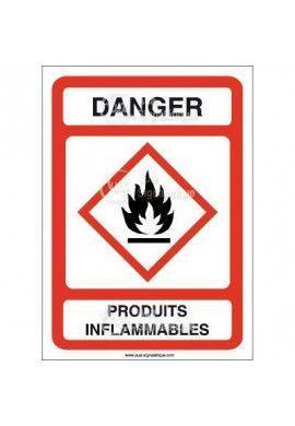 Panneau Danger Produits Inflammables - AI