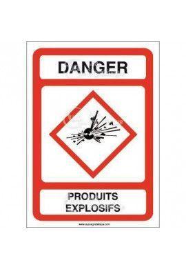 Panneau Danger Produits Explosifs - AI