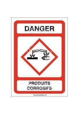 Panneau Danger Produits Corrosifs - AI