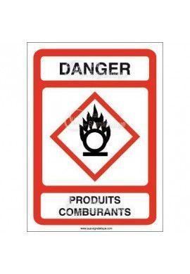 Panneau Danger Produits Comburants - AI