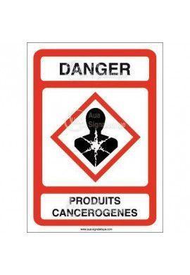 Panneau Danger Produits Cancérogènes - AI