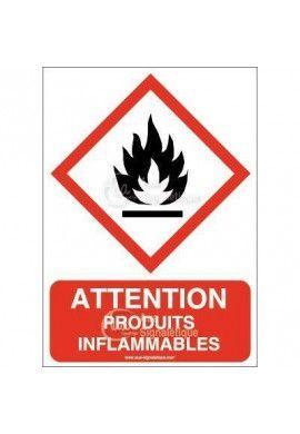 Panneau Attention Produits Inflammables - AI