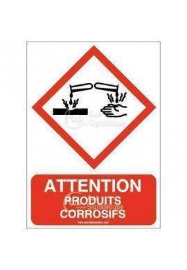 Panneau Attention Produits Corrosifs - AI
