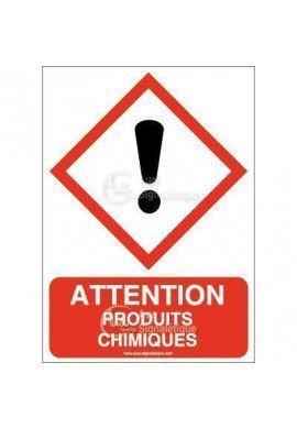 Panneau Attention Produits Chimiques - AI