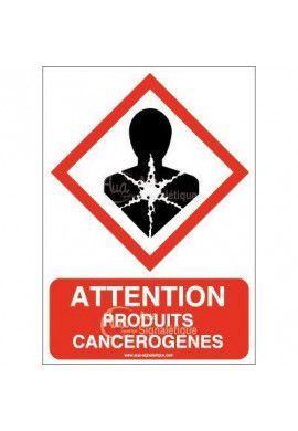 Panneau Attention Produits Cancérogènes - AI