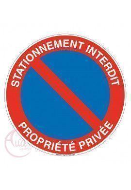 Panneau stationnement interdit propriété privée sous peine de fourrière 3
