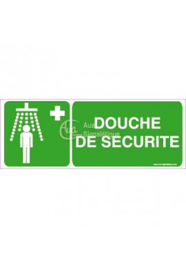 Panneau Douche de sécurité avec picto-B