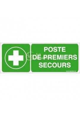 Panneau Poste de Premiers Secours Horizontal