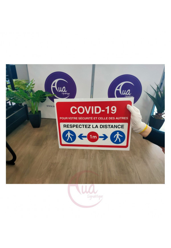 Panneau de signalisation règles de sécurité à respecter Coronavirus Covid-19