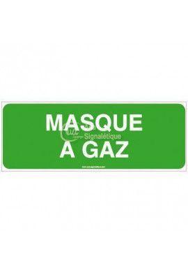 Panneau Masque a Gaz-B