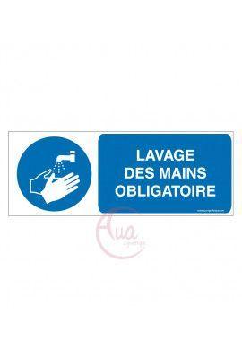 Lavage des mains obligatoire M011-B Aluminium 3mm 160x60 mm
