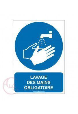 Lavage des mains obligatoire M011-AI Aluminium 3mm 150x210 mm