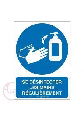 Panneau De Signalisation Geste Barrière Désinfection Des Mains Obligatoire 4