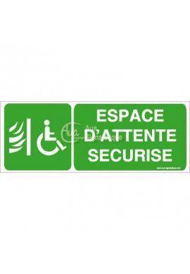 Panneau Espace d'Attente Sécurisé-B