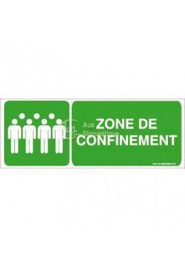 Panneau Zone de Confinement Horizontal