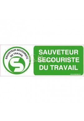 Panneau Sauveteur Secouriste du Travail - B