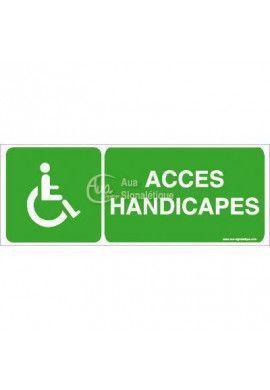 Panneau Accès Handicapés - B