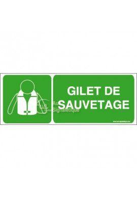 Panneau Gilet de Sauvetage - B