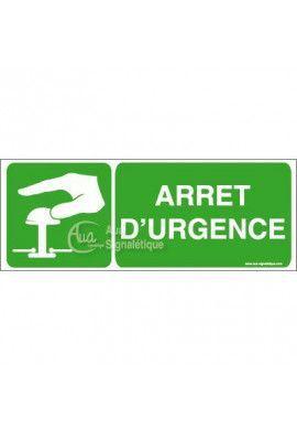 Panneau Arrêt D'Urgence Vert - B