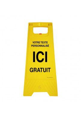 Chevalet de signalisation Sur-mesure - Poids 1Kg en plastique jaune