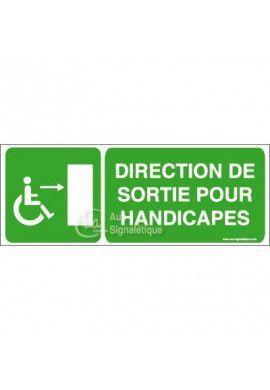 Panneau Direction Sortie Handi Dr - B