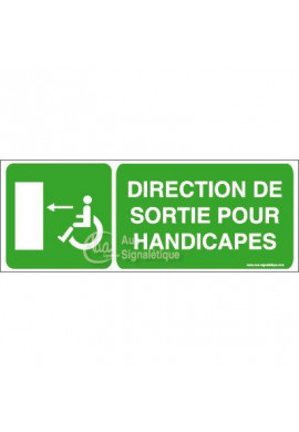 Panneau Direction Sortie Handi Gau - B