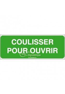 Panneau Coulisser pour ouvrir - B