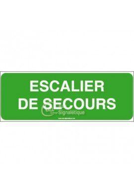 Panneau Escalier de secours - B