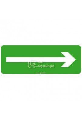 Panneau Evacuation vers la droite - B