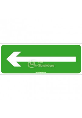 Panneau Evacuation vers la gauche-B