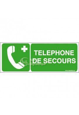 Panneau Téléphone de secours - B